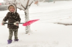 Elia Shoveling Snow 2015-2